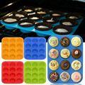 LeFull утолщенной 12 отверстиями кекс лоток круглая силиконовая форма для тортов для Кухня DIY инструмент для выпечки маффинов стаканчик