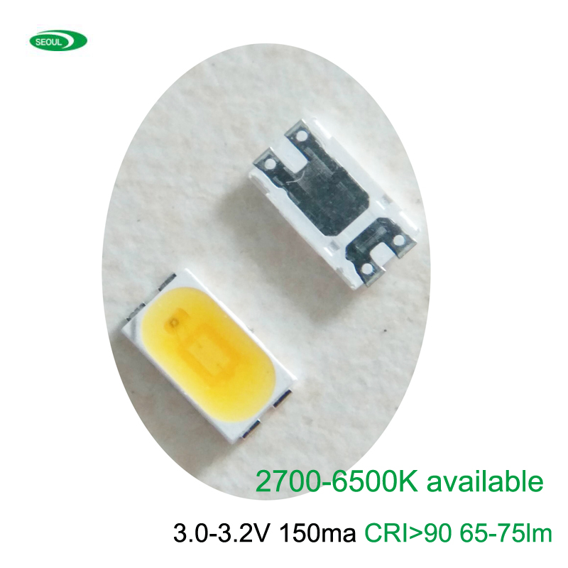 100PCS Seoul Original 5630 SMD LED 3V 150ma CRI>90 135lm/w 2700K To 6000K Available