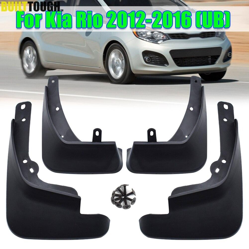 4Pcs Front And Rear Mud Flaps Car Mudguards For Kia Rio 2006-2011 Sedan