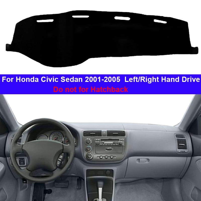 Car Inner Dashboard Cover Dash Mat Carpet Cape For Honda Civic Sedan 2001 2002 2003 2004 2005 LHD RHD Auto Dashmat Sunshade