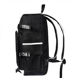 Image 3 - Mochilas escolares de moda para estudiantes de animación, mochilas escolares para niño y niña, mochila para ordenador portátil con carga USB