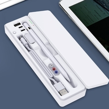 57EC All-in-One Pencil Case for ipadpencil Touch Screen Pen Storage Case Rechargeable Usb Charging Box