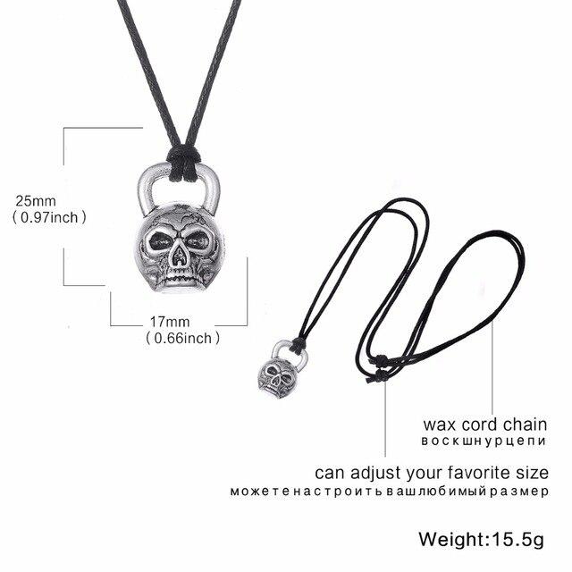 Halloween Necklace Skeleton Hand Skull Bones Gothic Accessory Voodoo Horror Bone