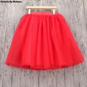 Image 5 - חורף טוטו בנות נסיכת פלאפי קפלים בתוספת גודל ורוד נשים נהיגה לראשונה חצאית Femme Faldas Rokken מותאם אישית טול חצאיות