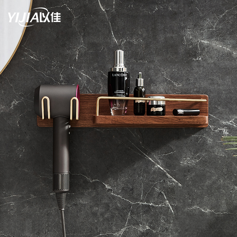 Bathroom Cosmetics Storage Rack Wooden Hair Dryer And Cosmetics Shelf Bathroom Accessories Free Shipping