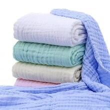 Хлопок детские пеленки мягкие одеяла для новорожденных Ванна Марля младенческой спальные принадлежности чехол для коляски игровой коврик