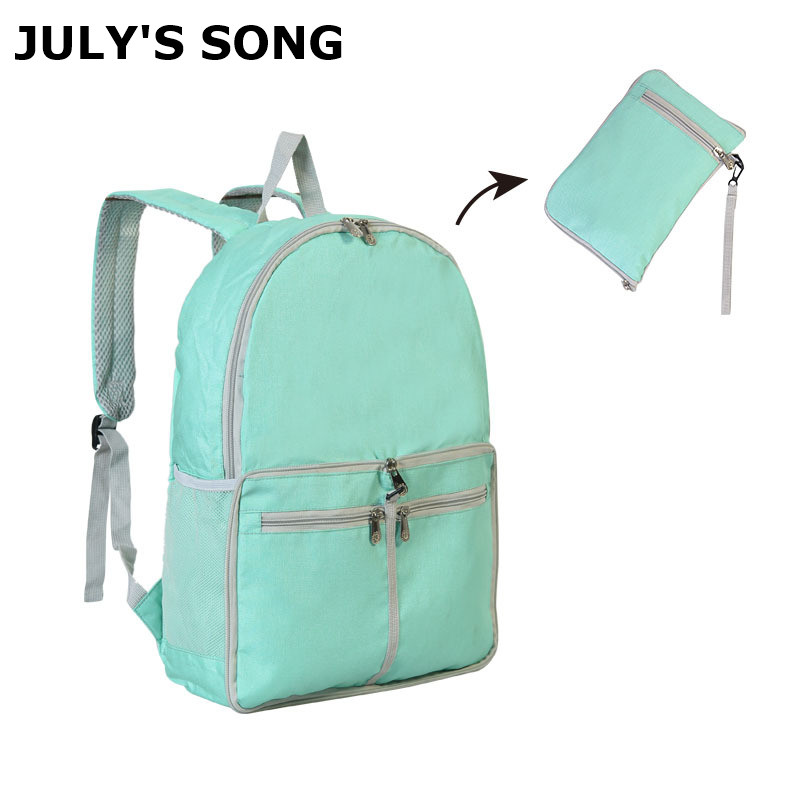 JULY'S SONG Foldable Backpack Waterproof Lightweight Backpack Multifunctional Hiking Travel Bag Men Women Daypack Bag