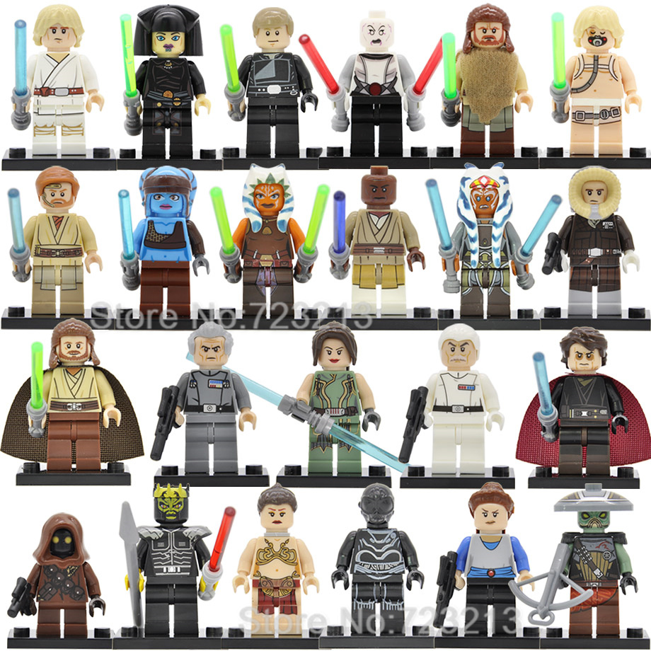 Single Starwars Embo Luke Jawa Figure Unduli Qui-Gon Jinn Ahsoka Death Star Droid Star Wars Building Blocks Model Toys Legoing image