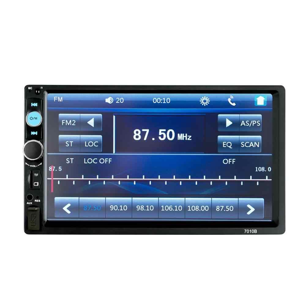 """2 din カーラジオ Autoradio 7010B 2Din 7 """"HD タッチスクリーンマルチメディアプレーヤー 12V 車ステレオミラーリンクブルートゥースリアビューカメラ"""