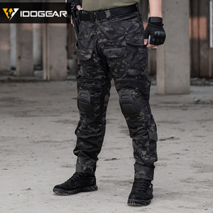 Image 2 - IDOGEAR Tactical G3 Pants with Knee Pads Airsoft Trousers MultiCam CP gen3 Hunting Camouflage black 3201