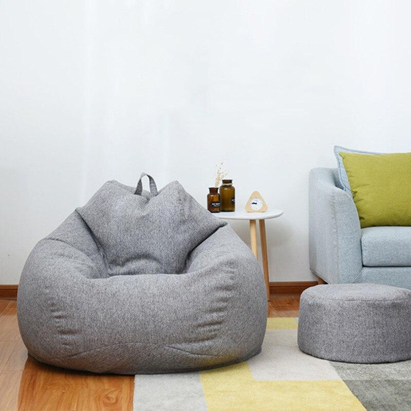 Große Kleine Faul Sitzsack Sofas Abdeckung Stühle ohne Füllstoff Leinen Tuch Liege Sitz Sitzsack Hocker Puff Couch Tatami Wohnzimmer zimmer