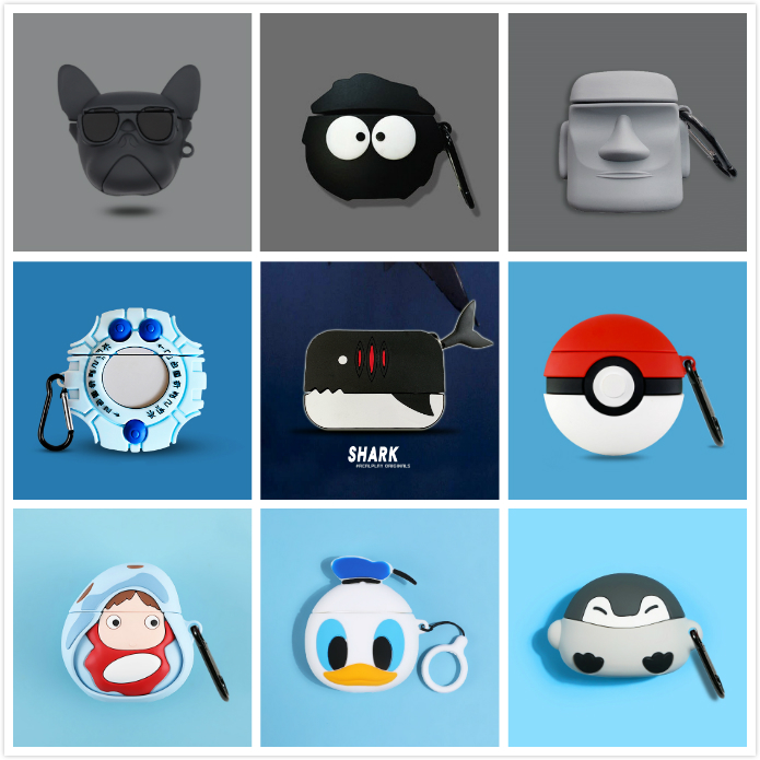 3d Cool Earphone Cases For Airpods Pro Case Cute Silicone Cartoon