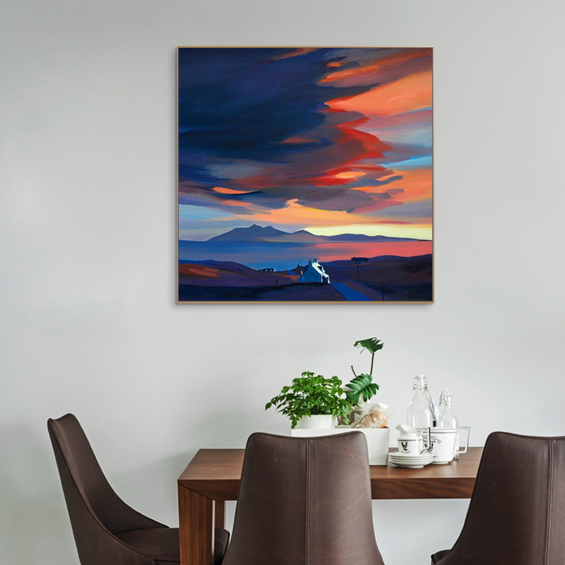 Paint By Number Art Painting By Numbers Hand-painted Simple Landscape Oil Painting Home Corridor Decorative Painting