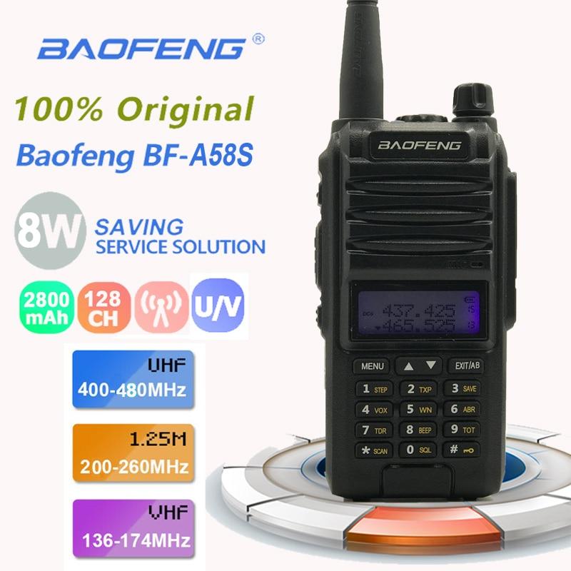 New Baofeng A58S Tri - Band Dual Antenna Walkie Talkie 8W UHF&VHF Mobile For UV5R A58 Transceiver Radios Comunicacion Pinganillo