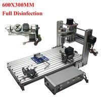 5 assi CNC fresatura macchina FAI DA TE macchina per incidere di CNC Mini router di CNC 300*600 millimetri area di lavoro-in Contornatrici per legno da Attrezzi su