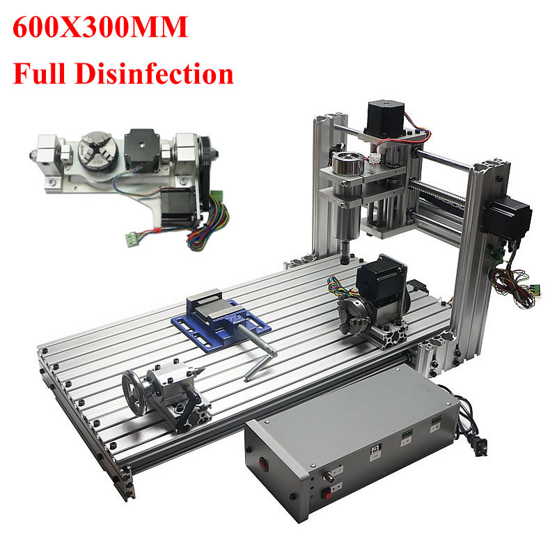 5 Axis CNC Milling Machine DIY CNC Engraving Machine Mini CNC Router 300*600mm Working Area