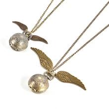 Collar con colgante de ala de bola de araña Vintage antiguo, reloj de bolsillo de cuarzo, colgante, collar, cadena, el mejor regalo