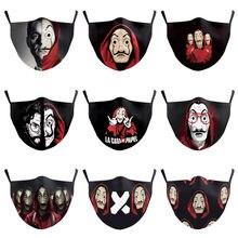 La casa de papel temporada 3 máscara facial adulto dinheiro assalto halloween cosplay traje adereços máscaras à prova de poeira respirável