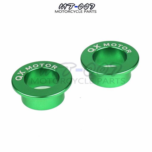 QXMOTOR-Logo billette despacement de roue arrière | Pour KX125 KX250 03-08 KXF250 04-14 KXF450 KLX450R moto