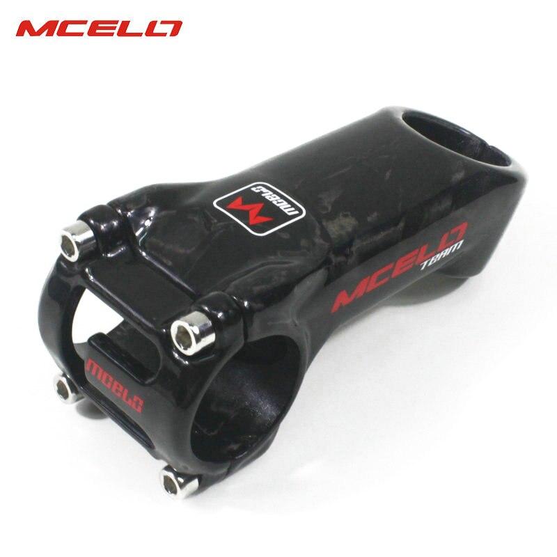 Bicicleta de fibra de carbono bicicleta de tallo ultraligero manillar 31,8mm 75/85/105mm MTB bicicleta de carretera vástago de 25 grados para ciclista profesional - 4