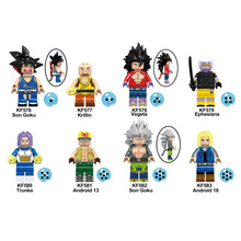 KF6048 Single Sale Building Blocks Super Heroes Ephnesians Trunks Action Dragon Ball Series Son Goku Figures For Children Toys