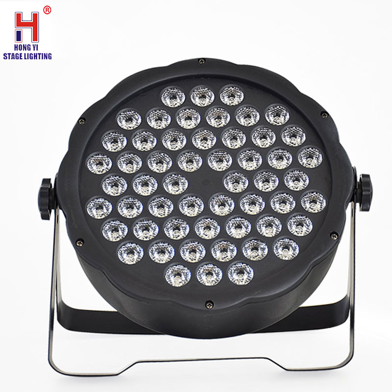 Professional Par Lights 54x3W RGB Wash Light DMX512 Controller Effect Flat Led Par Light High Power Dj Disco Stage Par Led Light