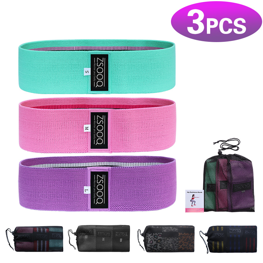Fabric Booty Resistance Bands Hip Circle Exercise Cotton Bands Thigh Butt Squat Fitness Rubber Bands Elastic Workout Glute Loop