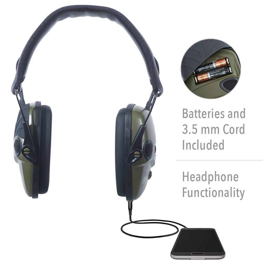 Уличные безопасные Тактические электронные наушники для стрельбы, наушники с защитой от шума, усиление звука, складные наушники-3