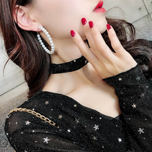 FNIO Elegant White Pearl Hoop Earrings for Women Oversize Pearl Circle Ear Rings Earrings Fashion 2019 Korean Statement Jewelry(China)