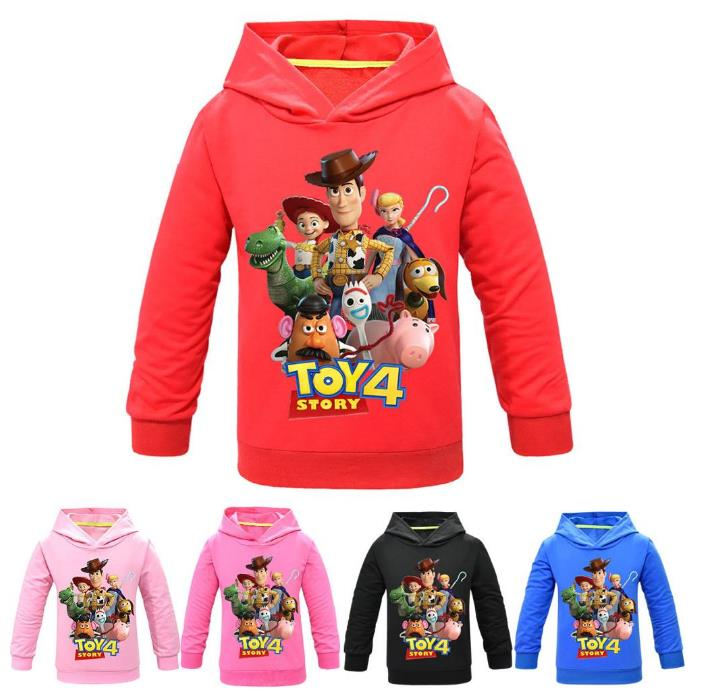 Hoodies Sweatshirt Toy-Story Pullover Girls Clothes Woody Anime Boys Kids Children Cartoon