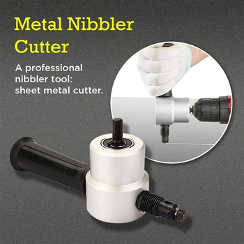 Garden Double Head Sheet Metal Nibbler Cutter Tool Drill Electric Sheet Metal Cutting Double  Nibbler Woodworking Accessories double head high speed steel sheet metal cutter for power electric drill silver black