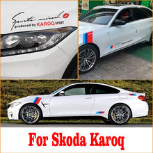 For Skoda Karoq 2019 2020 Car Special Stickers Emblem Vinyl Car Stickers And Decals Anti-Scratch Protection Exterior Accessories