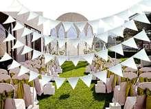 8M 18 Flags Black White Wedding Felt Flag Solemn Graduate National Festival Easter Pennants Decoration Supplies