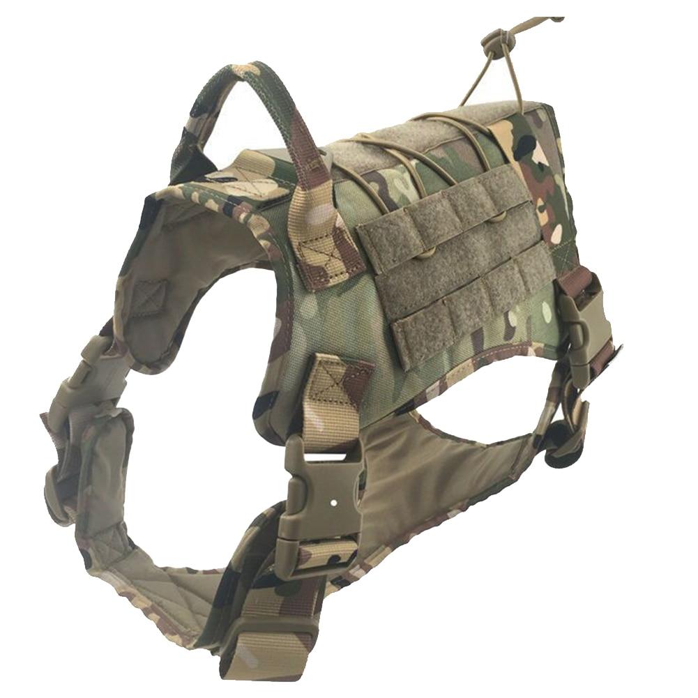 Регулируемый защитный Тактический тренировочный дышащий военный водостойкий жилет для собак Мягкая шлейка с ручкой из нейлона - Цвет: 3