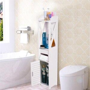 Image 1 - 80*15,5*15 см Ванная комната туалет для корпусной мебели белый деревянный шкаф полки для хранения стирального порошка шампунь ткани стеллаж для хранения
