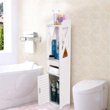 80*15.5*15cm Bathroom Toilet Furniture Cabinet White Wood Cupboard Storage Shelf Laundry Detergent Shampoo Tissue Storage Rack