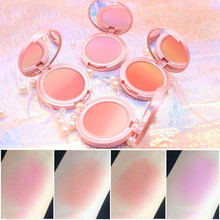 ZHENDUO 4 Colors Sweet pink gradation blush nude make up  natural good color two-color palette makeup rouge beauty