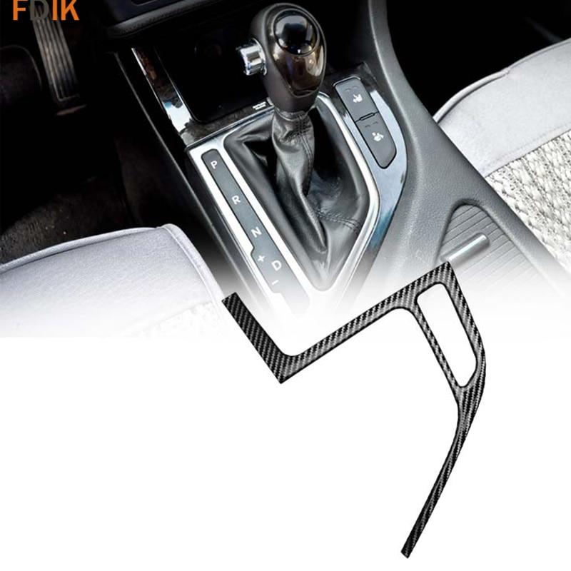 Interior Real Carbon Fiber Center Shift Knob Gear Panel Cover Trim Accessories for Kia K5 2011 2012 2013 2014 2015