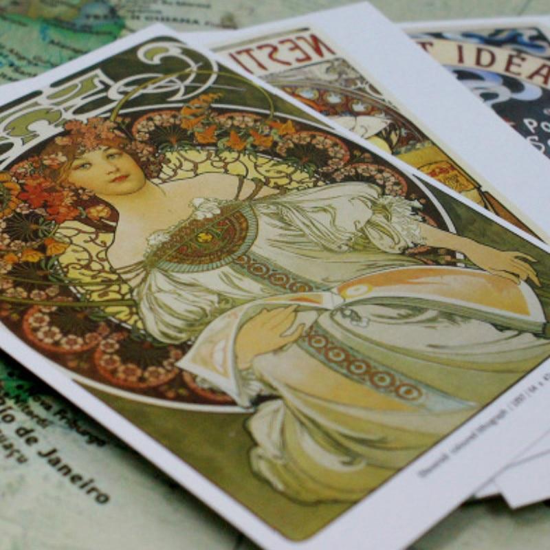 Cards-Wall-Decor Postcards Alphonse Mucha Maria 30pcs/Set Gift