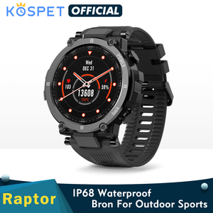 NEW KOSPET Raptor Outdoor Sport Watch Rugged Bluetooth Full Touch Smart Watch Ip68 Waterproof Tracker Fashion Smartwatch For Men