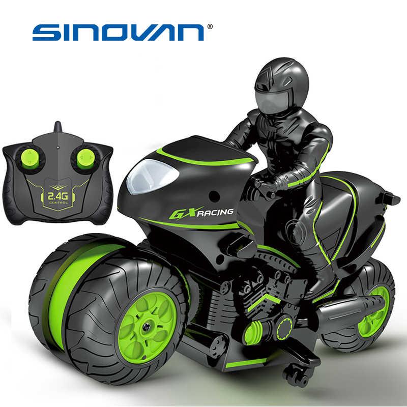 เด็กรถจักรยานยนต์ไฟฟ้ารีโมทคอนโทรล RC รถรถมินิรถจักรยานยนต์ 2.4 GHz แข่งรถมอเตอร์ไซด์เด็กของเล่นเด็ก