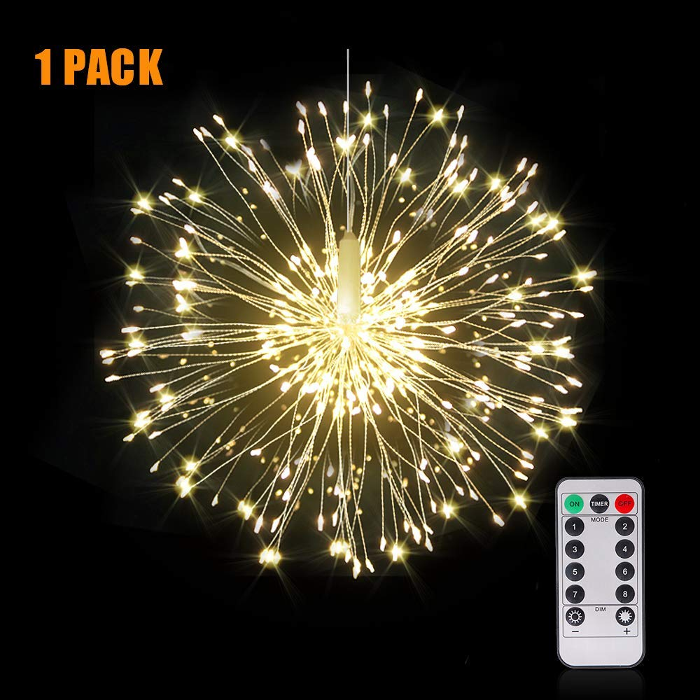 Christmas Firework String Light Battery Power LED String Copper Wire Fairy Lights Xmas Party Decor Twinkle Lamp