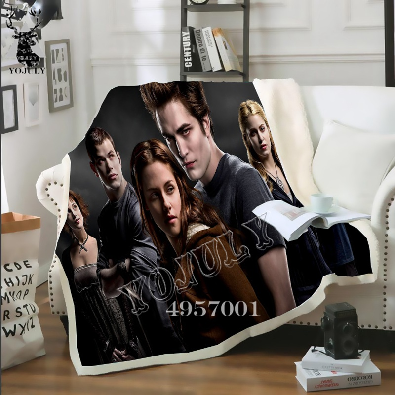 Movie Twilight 3D Print Harajuku Fahion Casual Thin Quilt Child Bed Blanket Bedspread Chair Bedding Home Plush Soft Quilt BB88