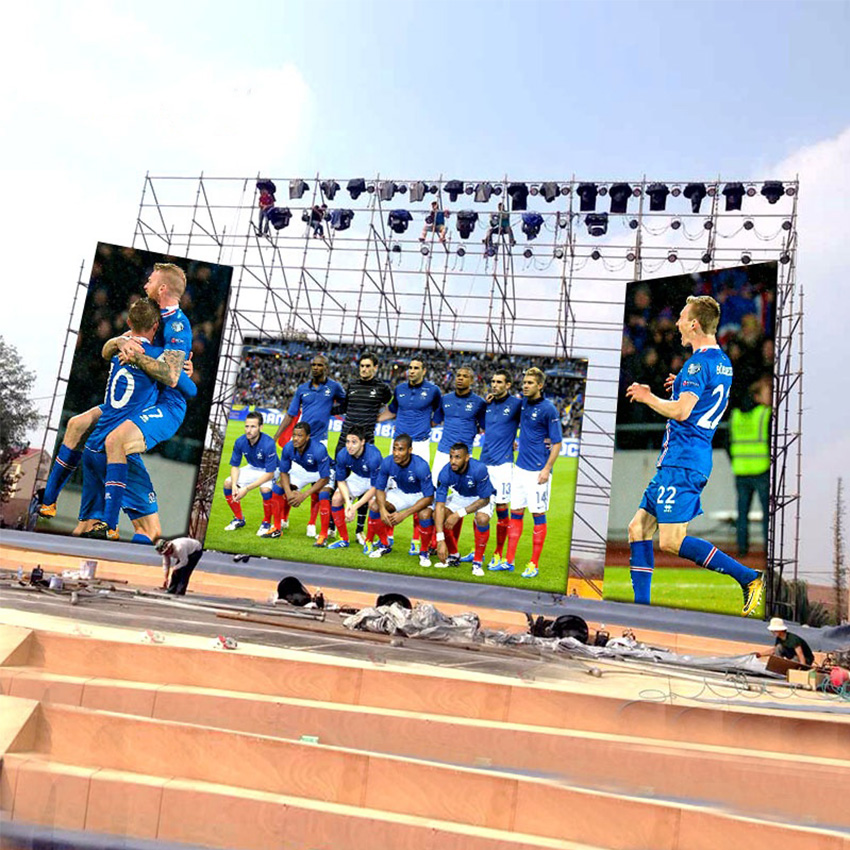 Rental Led Display Screen, P4.81mm Outdoor 500x1000mm Led Video Function Panels Waterproof Outdoor Advertising <font><b>Billboard</b></font> <font><b>Sign</b></font> image