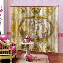 European angel window curtains for kids rooms living room bedroom photo curtains 3d print painting curtains(China)