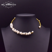 GLSEEVO Natural Fresh Water Baroque Pearl Choker Necklace Birthday Gifts