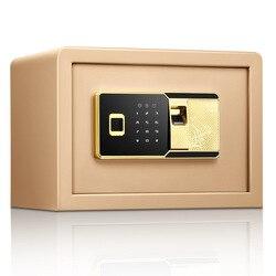 טביעת אצבע סיסמא כל פלדה קטן בית משרד בטוח 25Cm טביעת אצבע סיסמא אלקטרונית בטוח ביתי קטן כספות