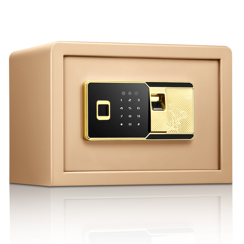Fingerprint Password All Steel Small Home Office Safe 25Cm Electronic Household Deposit Box