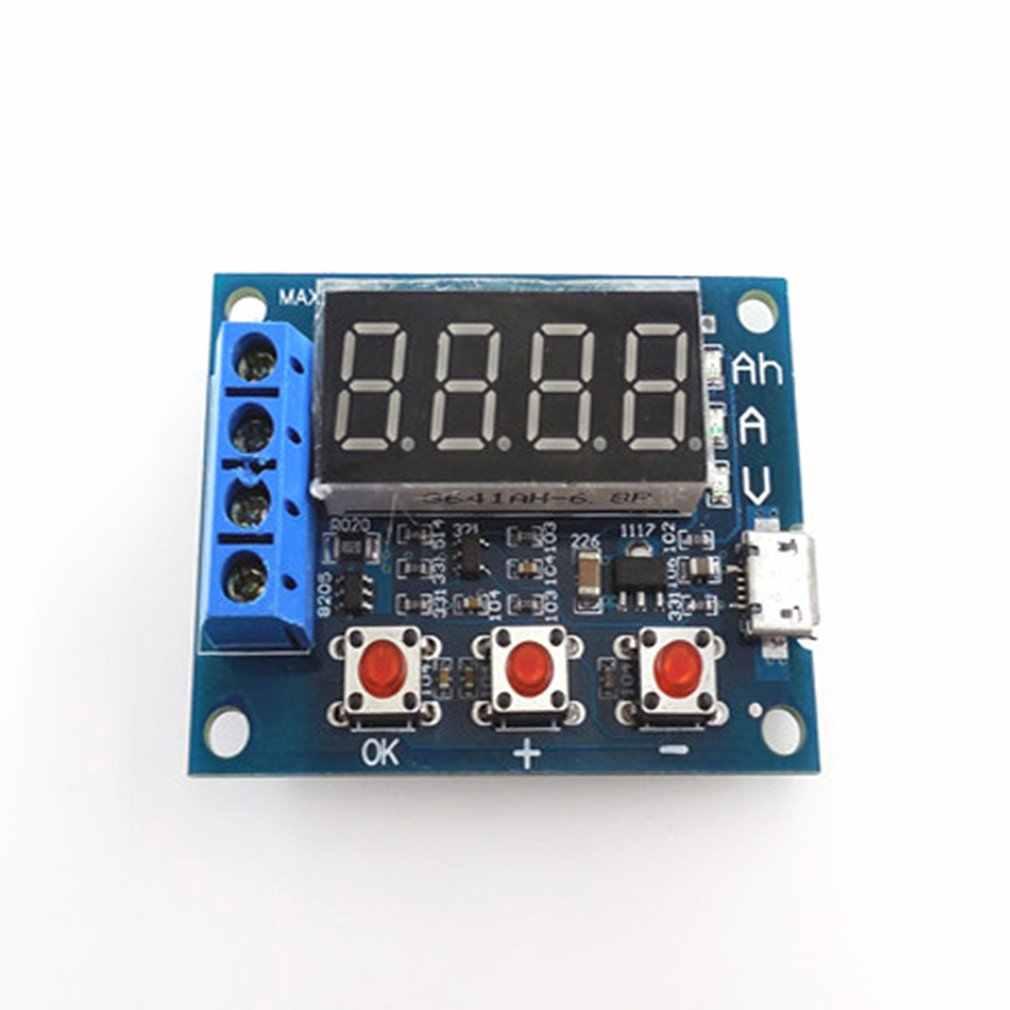وحدة اختبار قدرة بطارية الطاقة LED الرقمية ليثيوم أيون 18650 الخارجية تحميل البطارية التفريغ اختبار محلل المجلس
