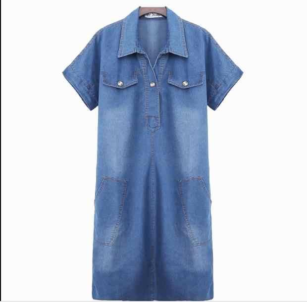 2020 vestido de verão das mulheres denim vestido feminino roupas verão mulher jeans elegante casual cowboy vestidos alta qualidade jr181